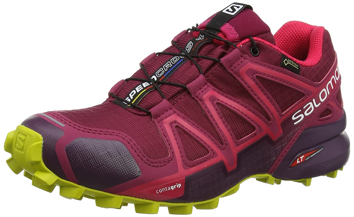 Salomon Women's Speedcross 4 GTX B078SYD5G6 W Trail Running Shoe B078SYD5G6 GTX 9.5 B(M) US|Beet Red/Potent Purple/Citronelle 45e917