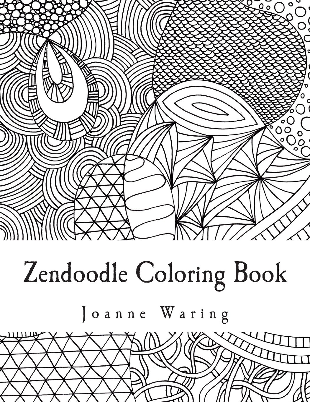 Amazon Com Zendoodle Coloring Book 12 Zendoodles To Color