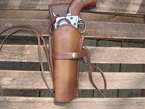 Western Gun Holster - Brown - Left Handed - for  22 Caliber single action  revolver - Size 6