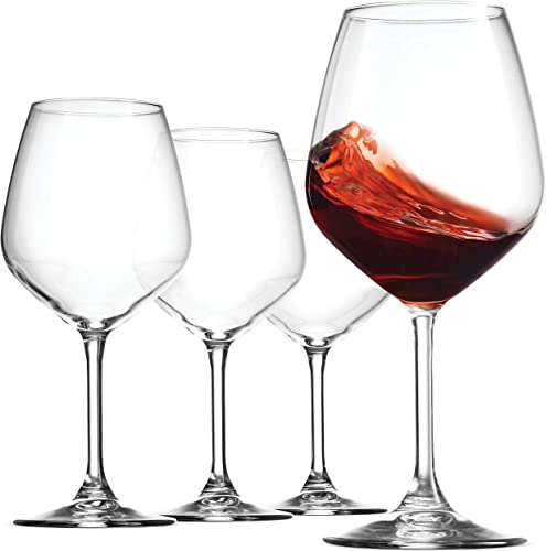 Bormioli-Rocco-18oz-Red-Wine-Glasses,-Crystal-Clear-Star-Glass