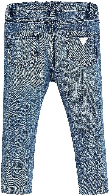 Jeans Skinny Logo Laterale Denim Blu Bimba Bambina Guess