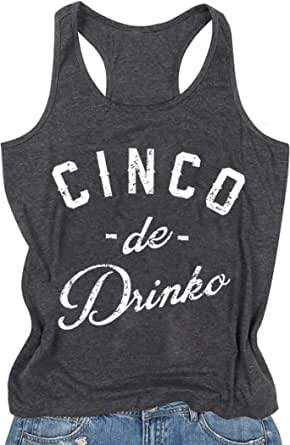 UNIQUEONE Sunshine and Whiskey Tank Tops for Women Beach Funny Letters Print Summer Tops Tees