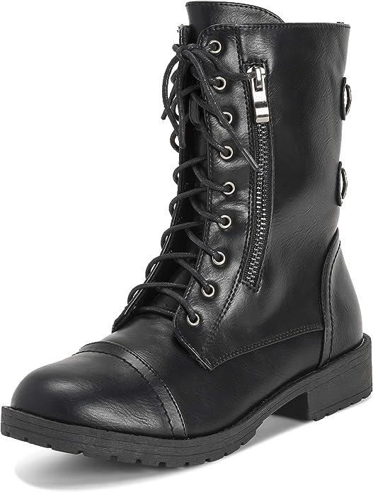 botas militares mujer negras