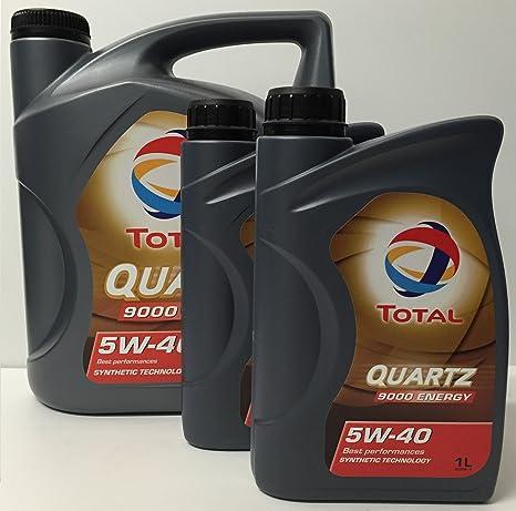 Lubricante motor TOTAL QUARTZ 9000 energy 5W-40 7 litros (1x5 + 2x1 lt