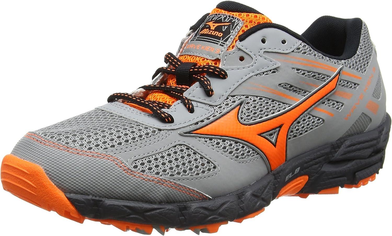 Mizuno Wave Kien 3, Zapatillas de Running para Asfalto para Hombre, Gris (Griffin/Clownfish/Dark Shadow), 45 EU: Amazon.es: Zapatos y complementos