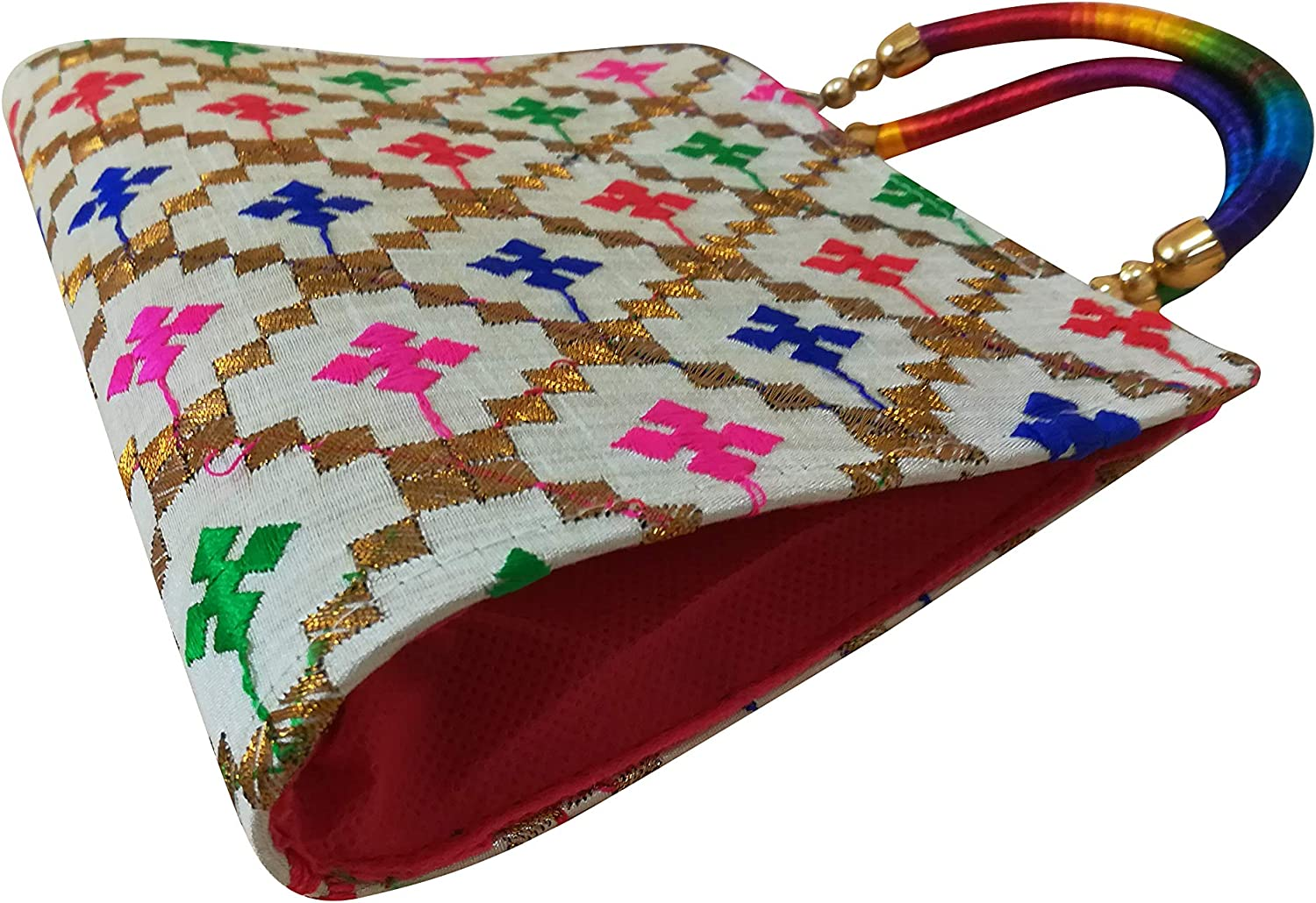 Multicolor floral Purses and Handbags embroidered Evening Clutch Classic Wedding Cocktail Party wristlet for Women
