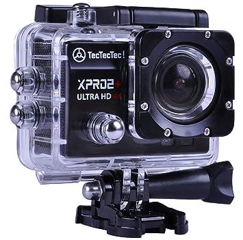 [New] TecTecTec XPRO2+ Videocámara Deportiva 4K Ultra HD WiFi con Carcasa Sumergible