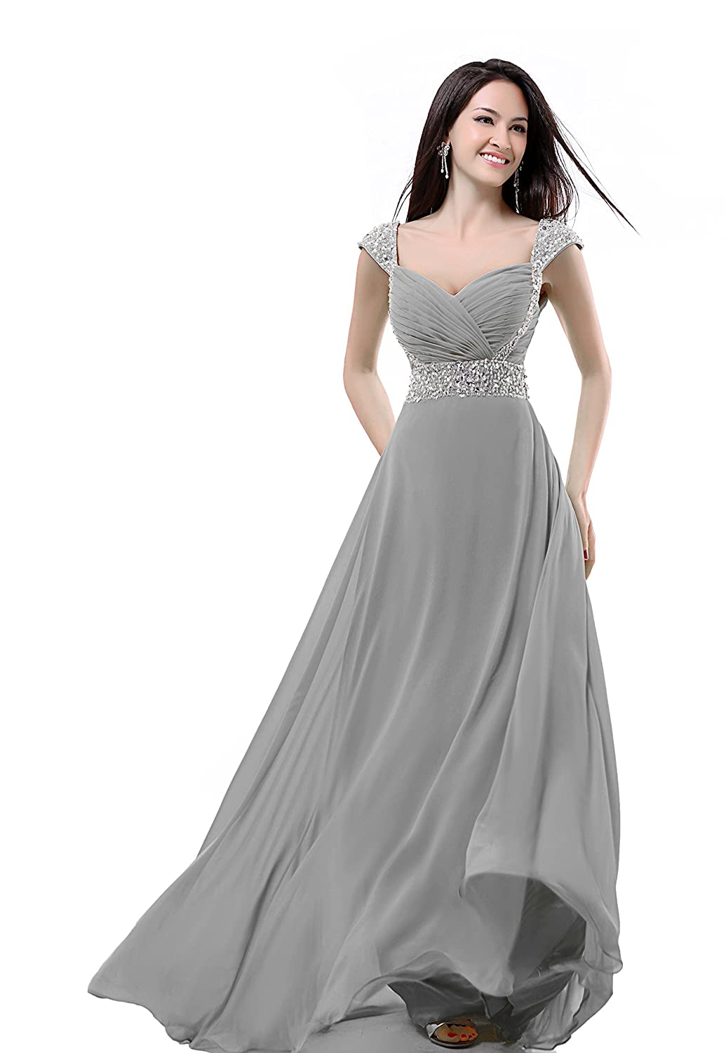 Amazon.com: Balllily Womens Long Chiffon Bridesmaid Prom Dress Evening Gowns: Clothing