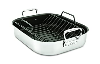All-Clad Free Nonstick Silver Roasting Pan
