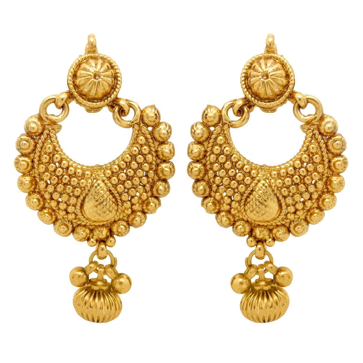 Buy YouBella Gold Plated Dangle & Drop Earrings For Women Online ...