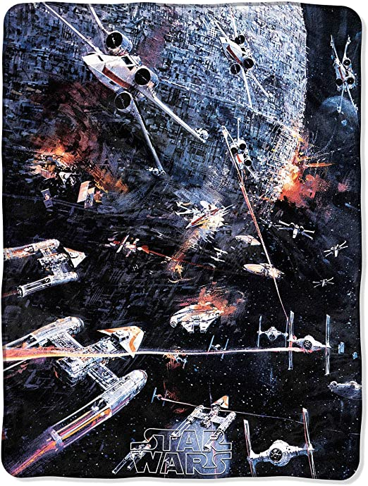 "Star Wars Darth Vader Fleece Plush Throw Super Soft Blanket 46 x 60/"" Disney"