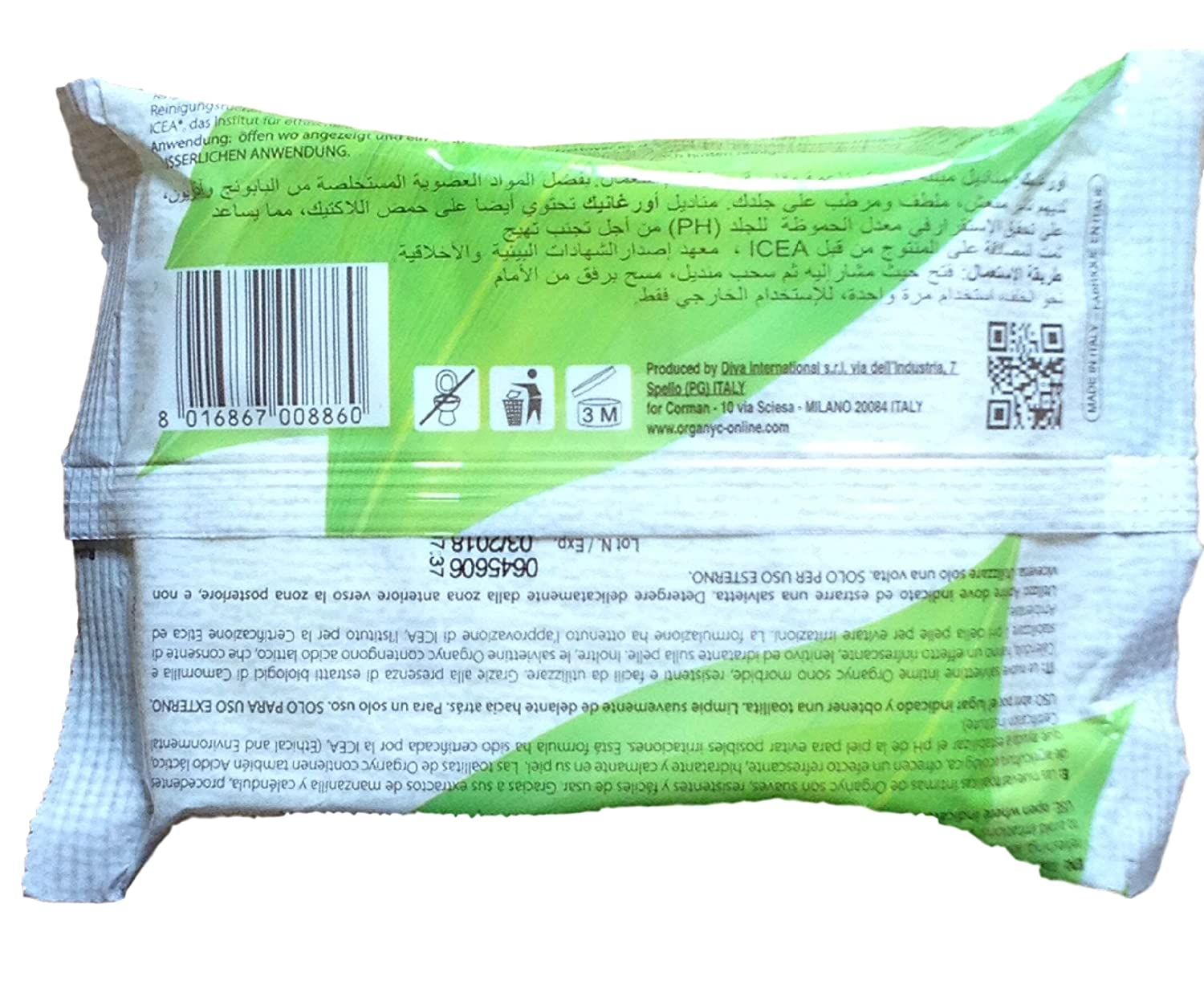 Amazon.com : Organyc - Intimate Hygiene Wet Wipes - Organic Formulation - 20 Count - 3 Pack : Baby