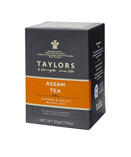 Taylors of Harrogate Assam Tea, 20 Count (Pack of 6) Tea Machines at amazon