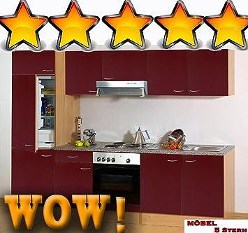 Trendige Einbauküche Küche Küchenblock ohne Elektrogeräte ...