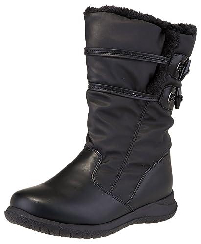 Sporto Women's Ashland Waterproof Winter Snow Boot (8.5 B(M) US, Black