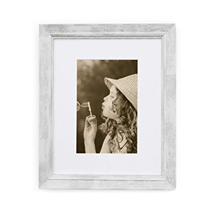 Amazon.com - 11x14 Picture Frame Distressed White- Made to Display ...