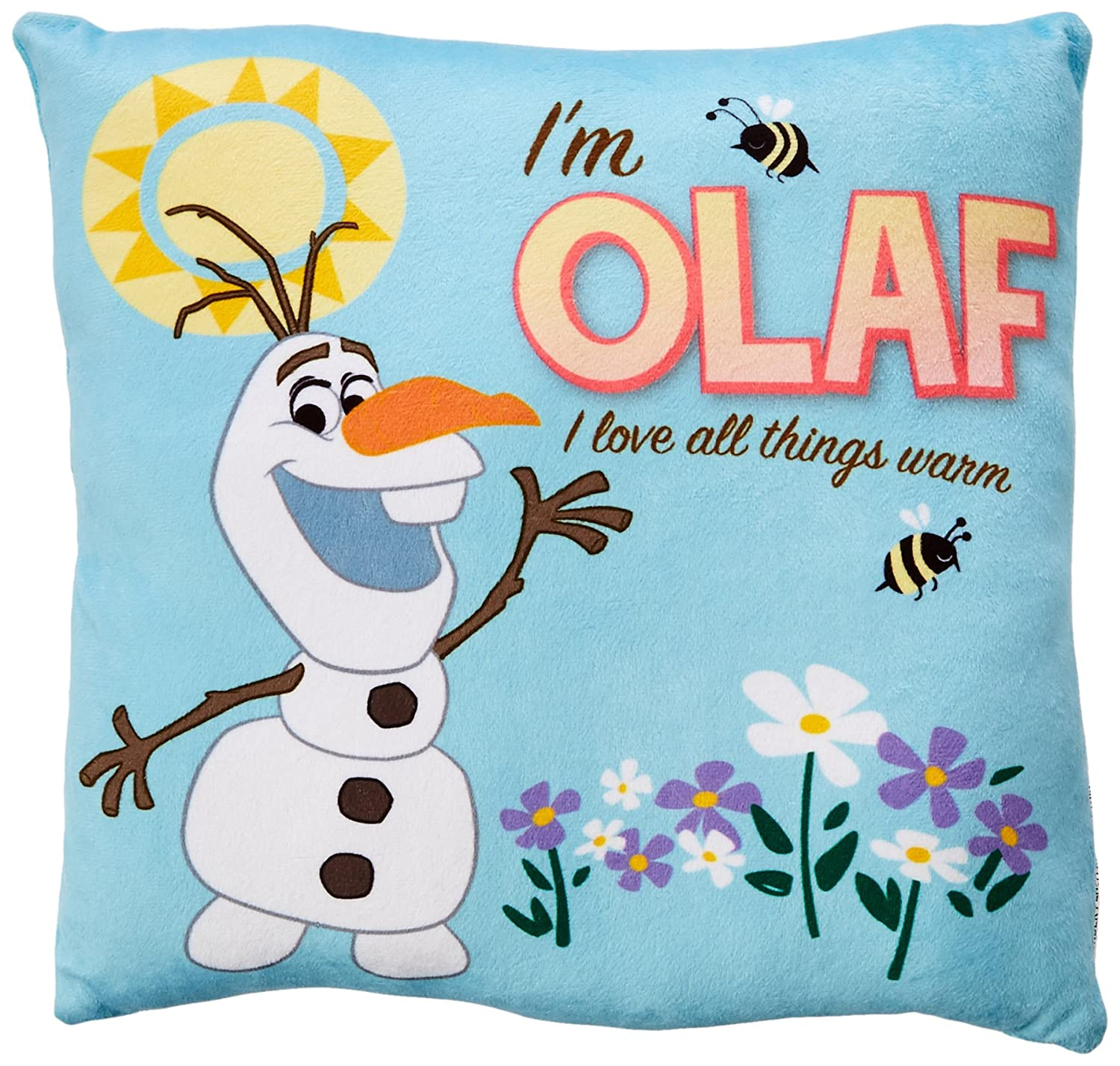 All Things Warm Disney Frozen Olaf Decorative Pillow
