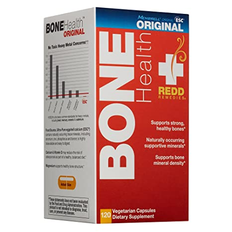 Redd Remedies Bone Health Original - May Reduce Risk Of Osteoporosis - Contains Vitamin D3 And
