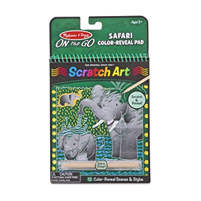 Melissa & Doug Safari Color-Reveal Scratch Art Activity Pad (Great Gift for Girls and Boys - Best for 5, 6, 7, 8, 9 Year Olds and Up): Toy: Toys & Games