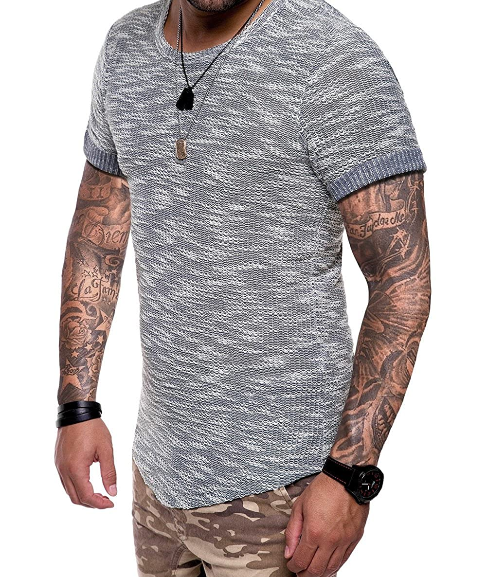 XARAZA Men's Slim Fit Long Sleeve Muscle Breathable T-Shirt Tops