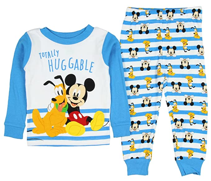 2f1c8ce3f Disney Baby Boys' Toddler Mickey Mouse Pluto Totally Huggable Pajama 2 PC  Set 12M