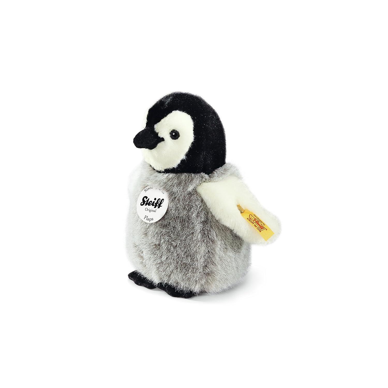 Steiff 057144 - Flaps Pinguin 16 stehende Plüsch, grau/weiß grau/weiß Wassertiere