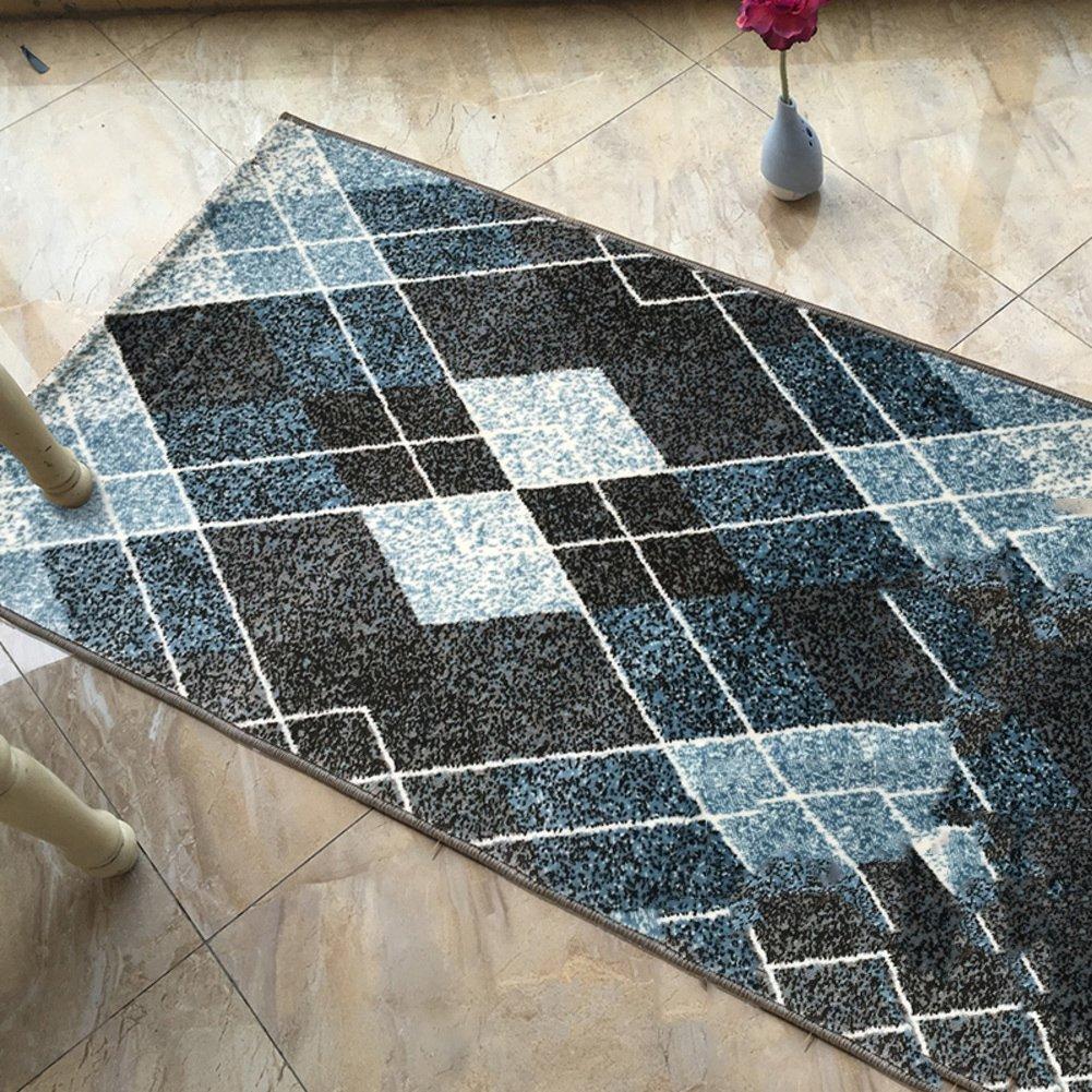 Simple mat de coton rectangulaire nordique moderne Paillasson Par tapis Touche entrée-C 80x120cm(31x47inch)