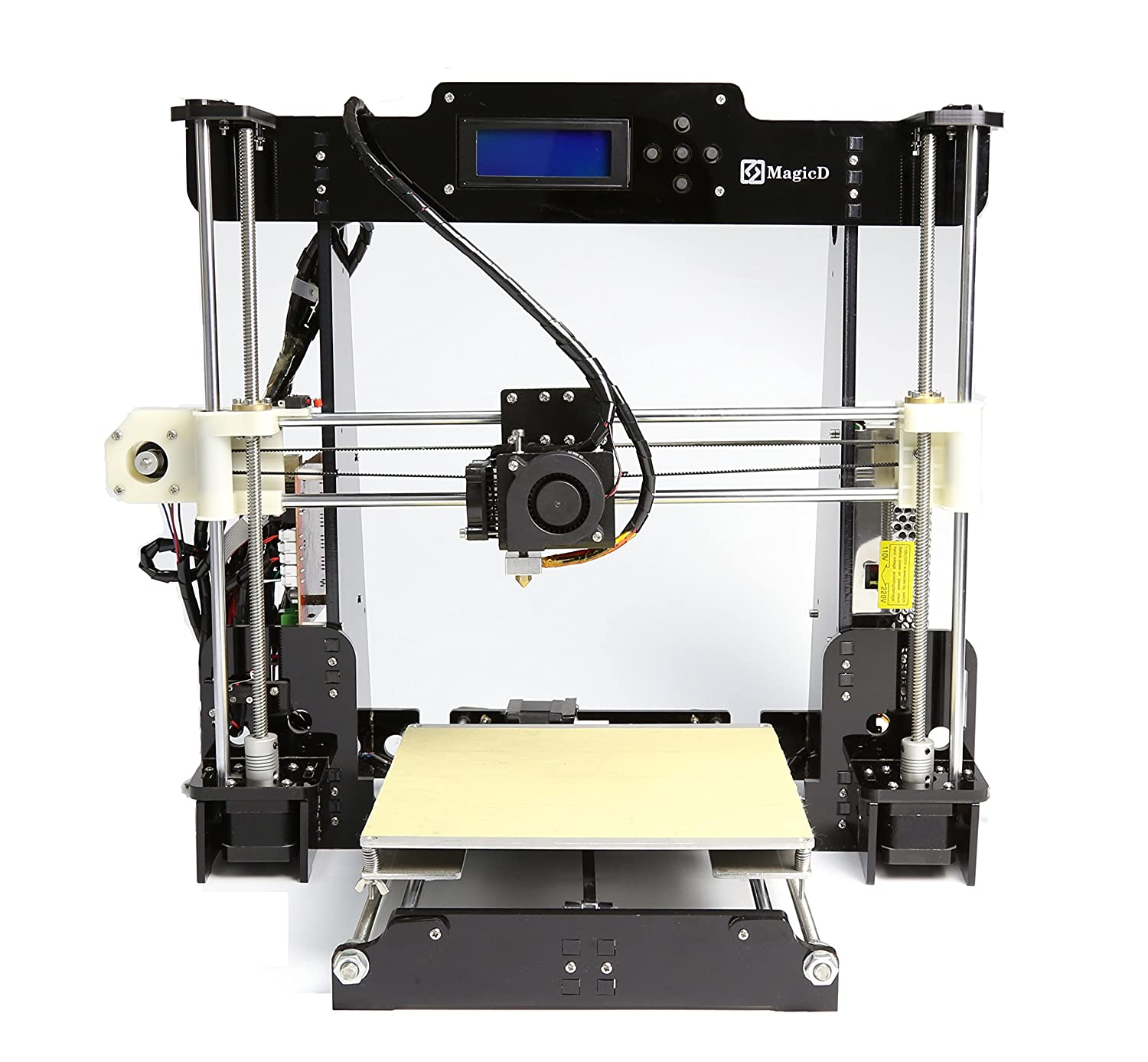 MZEDE High Performance Anet A8 RepRap 3D Printer DIY Kit, Classic A8 RepRap 3D Printer, Desktop 3D Printer, Print PLA, ABS Filament, Easy To Assemble,UK Standard Plug.