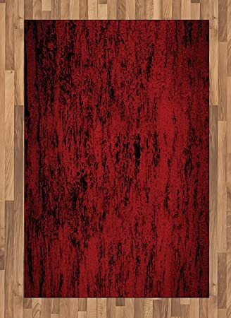 Amazon Com Ambesonne Red And Black Area Rug Artistic Abstract