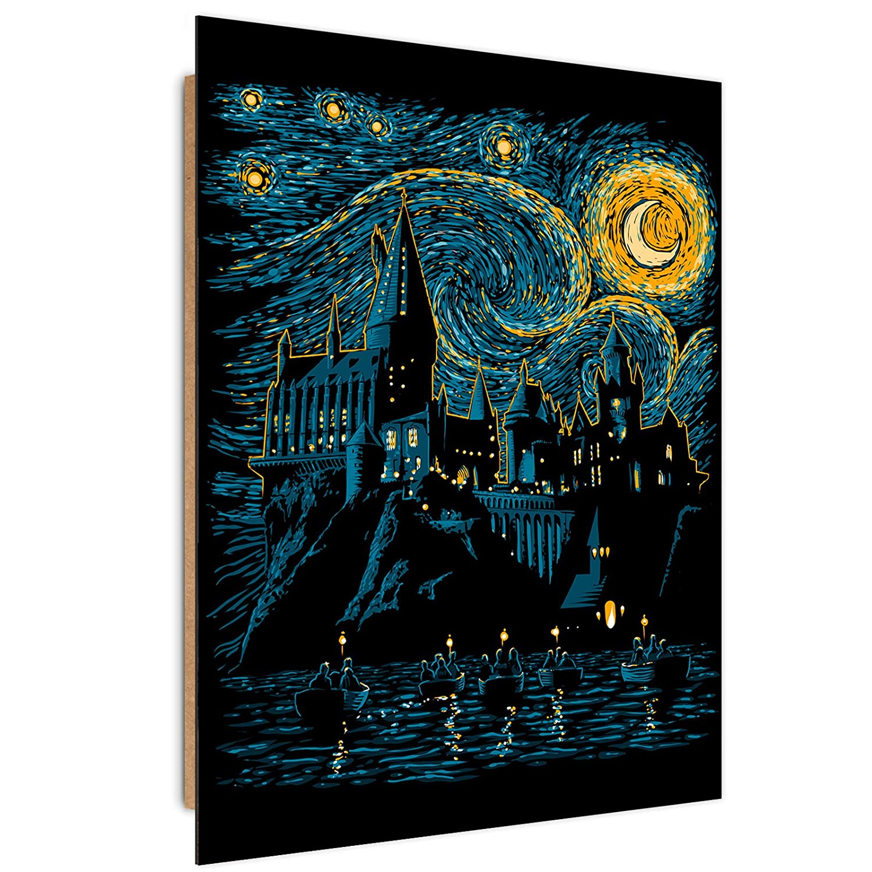 Feeby Fantasie vom DDJVIGO wanddekoration - 50x70 cm - schwarz blau gelb