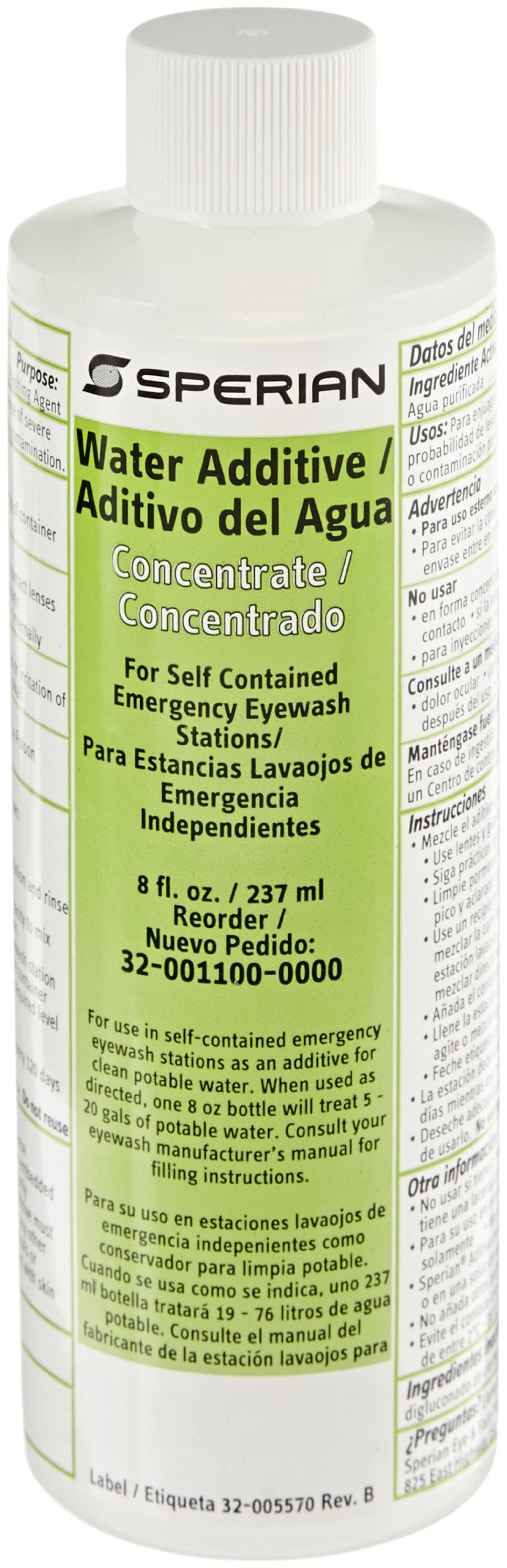 Fendall Porta Stream I, II, III Emergency Eye Wash Station Water Additive, 8 oz. / 237 ml (4 Per Case)