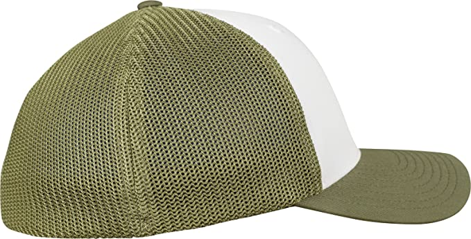 3d4835f72f0 Flexfit Mesh Colored Front Buck White Buck S M at Amazon Men s Clothing  store