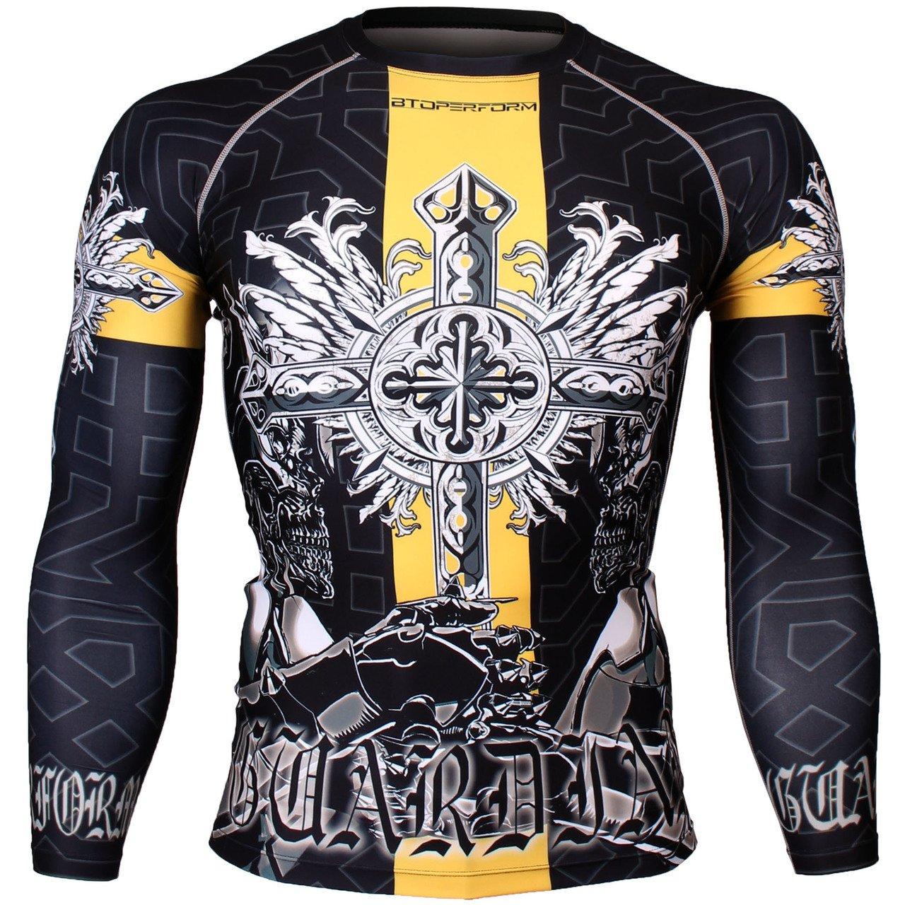BTOPERFORM Compression shirt Base Layer Under Skin Tight Rash guard MMA Gym S-1