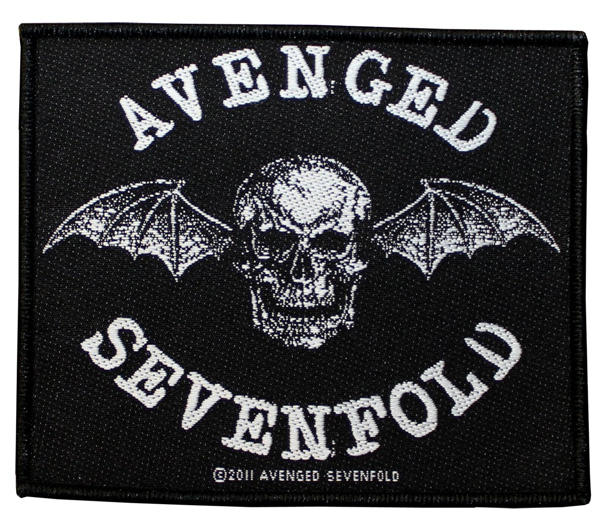 AVENGED Seven fffd in gomma DEATH BAT Patch Tessuto 10 x 8, 5 cm Avenged Sevenfold