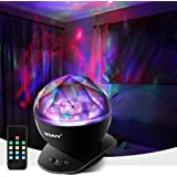 Aurora Night Light, LED Aurora Projector Night Lamps with Remote, 8 Mode Lighting Shows, Built in Speaker and Timing, Mood Re