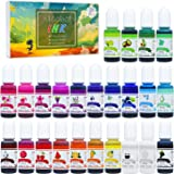 Alcohol Ink Set - 24 Vibrant Colors Alcohol-based Ink for Resin Petri Dish Making, Epoxy Resin Painting - Concentrated…