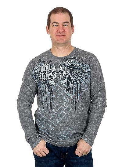 8779e679 Amazon.com: Men's MMA Long Sleeve Shirt in 5 and Colors Sweatshirt ...