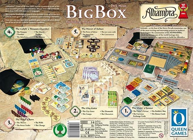 Alhambra Rio Grande Games - Juego de Mesa Big Game (Contenido en ...