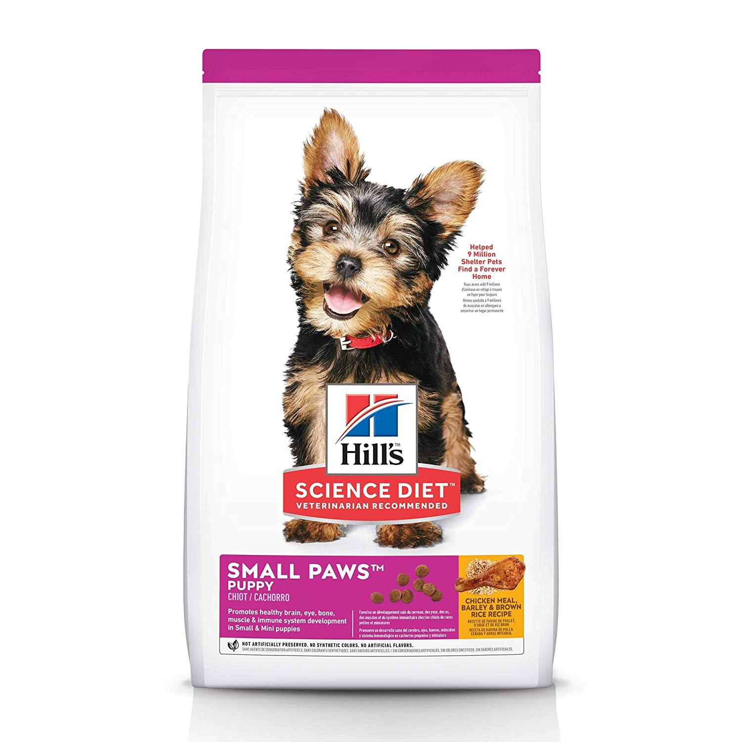 2.Hill's Science Diet Dry Dog Food, Puppy, Small Paws for Small Breed