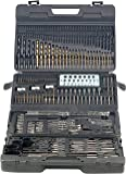 AGT Bohrerset: Profi Bohrer- & Bit-Set 204-teilig, Chrom-Vanadium inkl. Magnet-Adapt. (Bohrset)