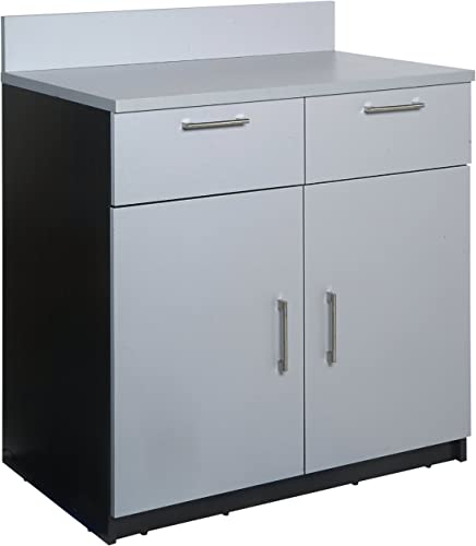 Breaktime 1 Piece Group Model 2092 Break Room Lunch Room Cabinet Ready-To-Install Ready-To-Use , Color Espresso Grey Metallic