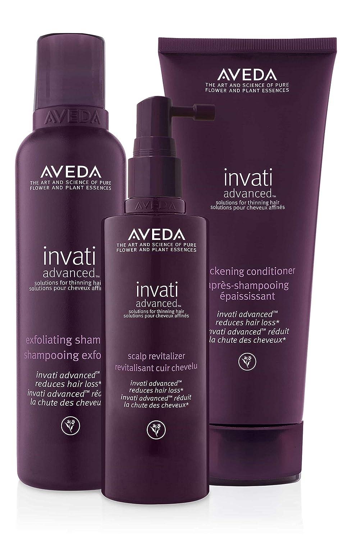 Aveda Invati Advanced Shampoo 6.7 Ounce Conditioner 6.7 Ounce Scalp Revitalizer 5 Ounce