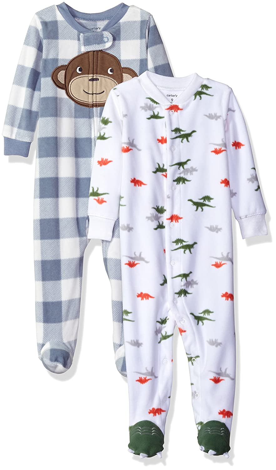 Carter's Boys' 2-Pack Microfleece Sleep and Play Carters KBC 115G30-1