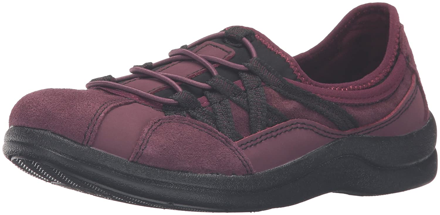 Easy Street Women's Laurel Flat B01JU8JTNG 6.5 2W US|Wine Leather/Suede Leather