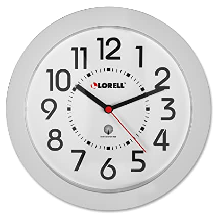 Amazon.com: Lorell Wall Clock, 9-Inch, White Dial/White Frame: Home ...