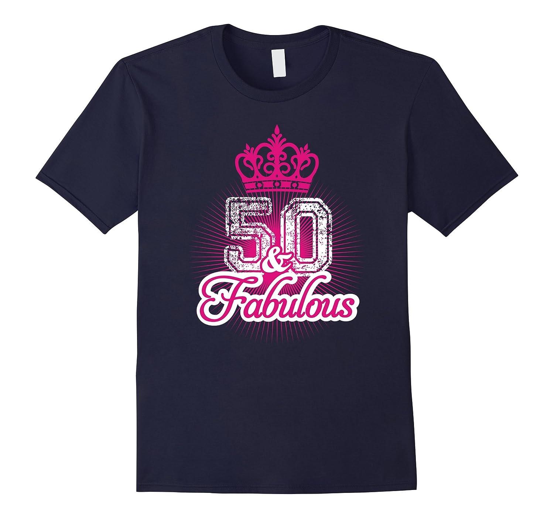 50 Yrs Old 50th Birthday Queen  Princess Crown Lady T-Shirt-TD