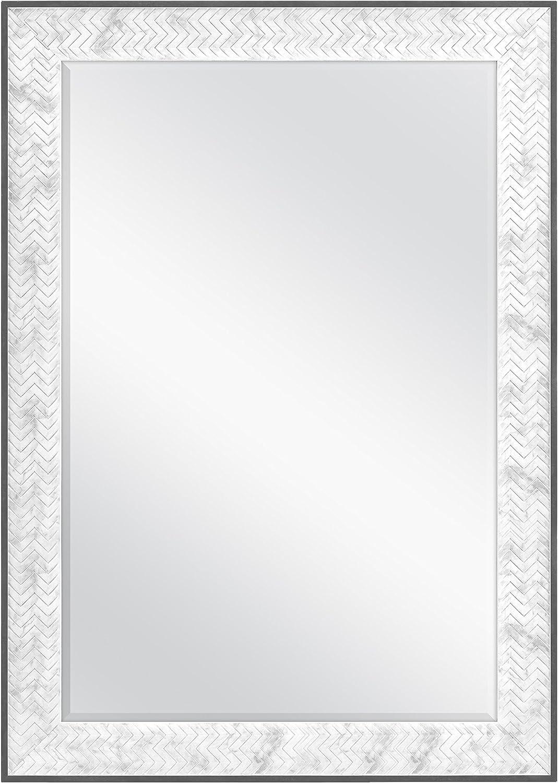 MCS 24x36 Inch Chevron, 30x42 Overall Size, Marble Mirror, 30 x 42 Inch,