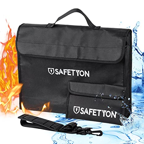 SAFETYON Bolsa de documentos impermeable ignífuga y ...