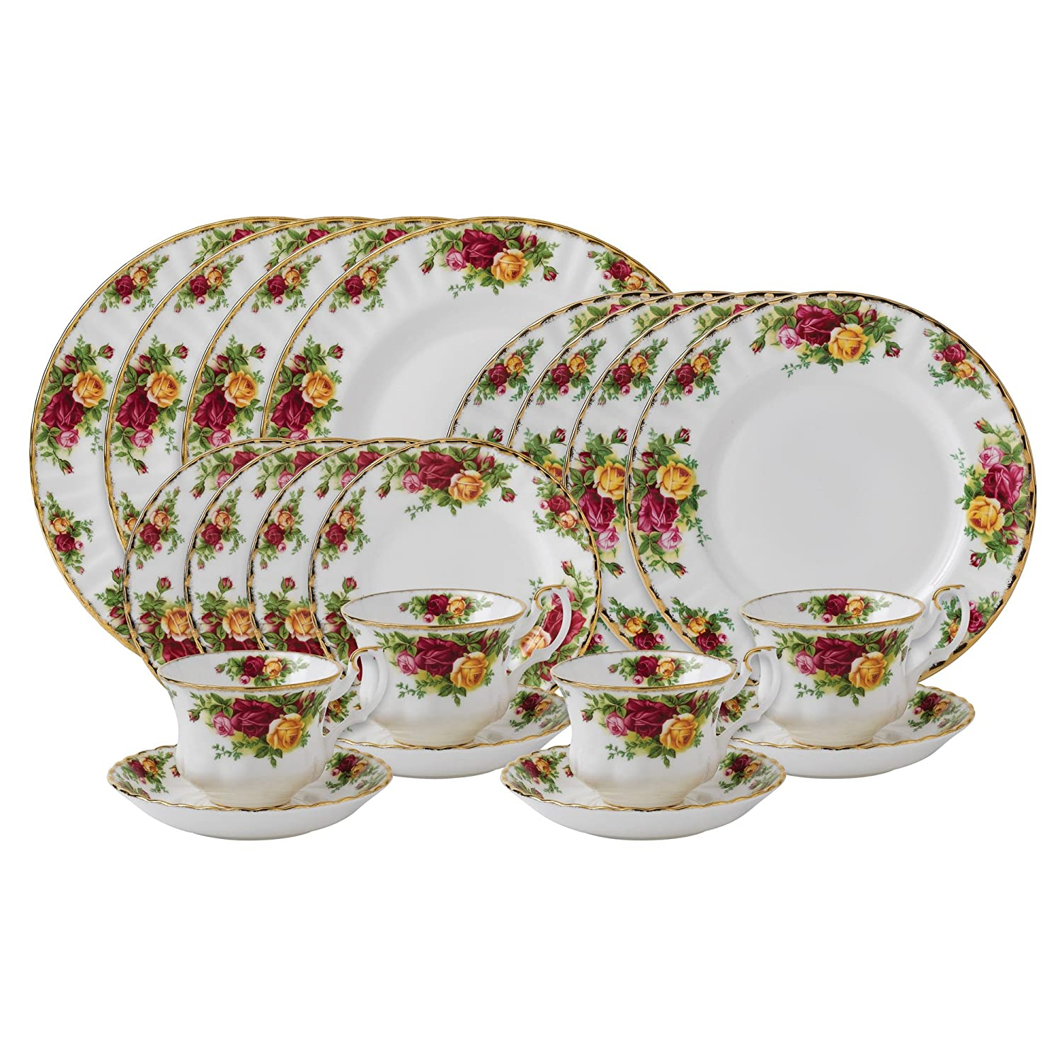 Amazon.com | Royal Albert Old Country Roses 20-Piece Dinnerware Set Service for 4 Dinnerware Sets  sc 1 st  Amazon.com & Amazon.com | Royal Albert Old Country Roses 20-Piece Dinnerware Set ...