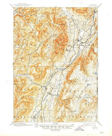Amazon.com: YellowMaps Equinox VT topo map, 1:62500 scale, 15 X 15 ...
